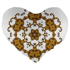 Fractal Tile Construction Design Large 19  Premium Heart Shape Cushions