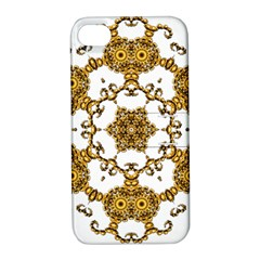 Fractal Tile Construction Design Apple iPhone 4/4S Hardshell Case with Stand