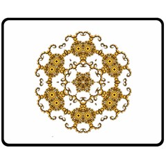 Fractal Tile Construction Design Double Sided Fleece Blanket (Medium)