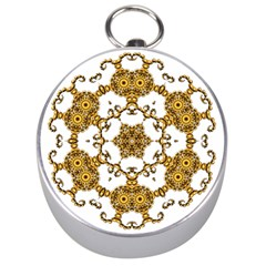 Fractal Tile Construction Design Silver Compasses