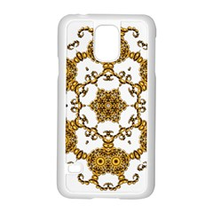 Fractal Tile Construction Design Samsung Galaxy S5 Case (White)