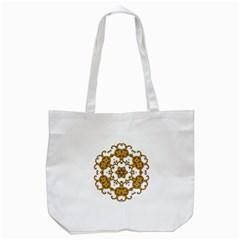 Fractal Tile Construction Design Tote Bag (White)