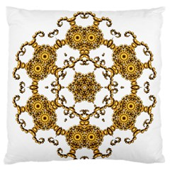 Fractal Tile Construction Design Large Flano Cushion Case (Two Sides)