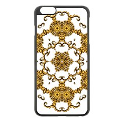 Fractal Tile Construction Design Apple iPhone 6 Plus/6S Plus Black Enamel Case