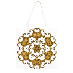 Fractal Tile Construction Design Grocery Light Tote Bag