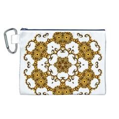 Fractal Tile Construction Design Canvas Cosmetic Bag (L)