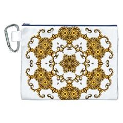 Fractal Tile Construction Design Canvas Cosmetic Bag (XXL)