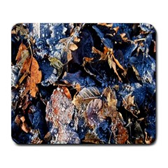Frost Leaves Winter Park Morning Large Mousepads