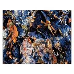 Frost Leaves Winter Park Morning Rectangular Jigsaw Puzzl