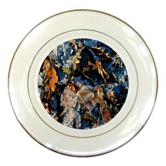 Frost Leaves Winter Park Morning Porcelain Plates
