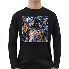 Frost Leaves Winter Park Morning Long Sleeve Dark T-Shirts