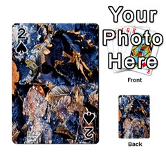 Frost Leaves Winter Park Morning Playing Cards 54 Designs