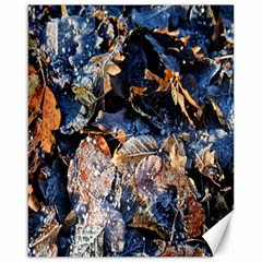 Frost Leaves Winter Park Morning Canvas 16  x 20