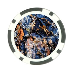 Frost Leaves Winter Park Morning Poker Chip Card Guards