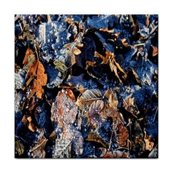 Frost Leaves Winter Park Morning Face Towel