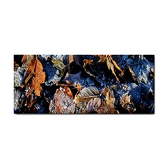 Frost Leaves Winter Park Morning Hand Towel