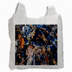 Frost Leaves Winter Park Morning Recycle Bag (Two Side)