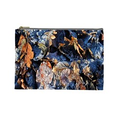 Frost Leaves Winter Park Morning Cosmetic Bag (Large)