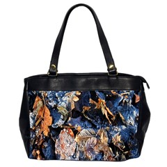 Frost Leaves Winter Park Morning Office Handbags (2 Sides)