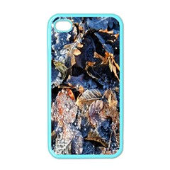 Frost Leaves Winter Park Morning Apple iPhone 4 Case (Color)