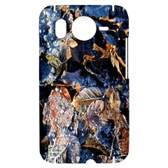 Frost Leaves Winter Park Morning HTC Desire HD Hardshell Case