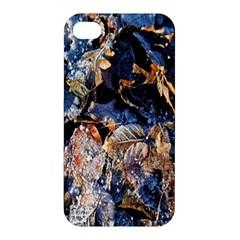Frost Leaves Winter Park Morning Apple iPhone 4/4S Premium Hardshell Case