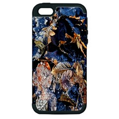 Frost Leaves Winter Park Morning Apple iPhone 5 Hardshell Case (PC+Silicone)