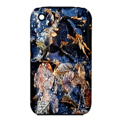 Frost Leaves Winter Park Morning Apple iPhone 3G/3GS Hardshell Case (PC+Silicone)