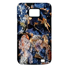 Frost Leaves Winter Park Morning Samsung Galaxy S II i9100 Hardshell Case (PC+Silicone)