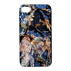 Frost Leaves Winter Park Morning Apple iPhone 4/4S Hardshell Case with Stand