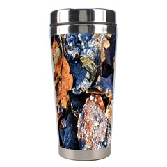 Frost Leaves Winter Park Morning Stainless Steel Travel Tumblers