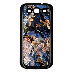 Frost Leaves Winter Park Morning Samsung Galaxy S3 Back Case (Black)