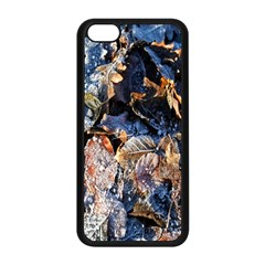 Frost Leaves Winter Park Morning Apple iPhone 5C Seamless Case (Black)