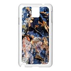 Frost Leaves Winter Park Morning Samsung Galaxy Note 3 N9005 Case (White)