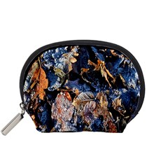 Frost Leaves Winter Park Morning Accessory Pouches (Small)