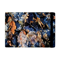 Frost Leaves Winter Park Morning iPad Mini 2 Flip Cases