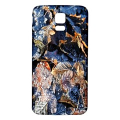 Frost Leaves Winter Park Morning Samsung Galaxy S5 Back Case (White)