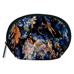 Frost Leaves Winter Park Morning Accessory Pouches (Medium)
