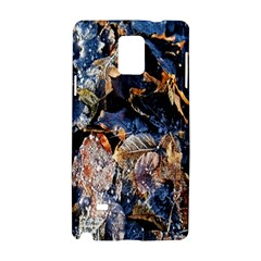 Frost Leaves Winter Park Morning Samsung Galaxy Note 4 Hardshell Case