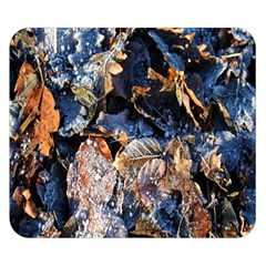 Frost Leaves Winter Park Morning Double Sided Flano Blanket (Small)