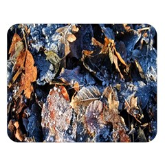 Frost Leaves Winter Park Morning Double Sided Flano Blanket (Large)
