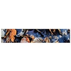 Frost Leaves Winter Park Morning Flano Scarf (Small)