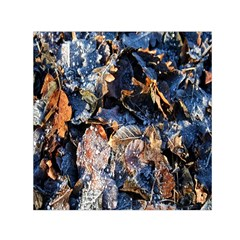 Frost Leaves Winter Park Morning Small Satin Scarf (Square)