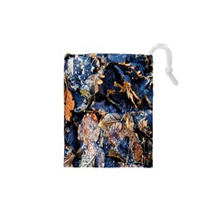 Frost Leaves Winter Park Morning Drawstring Pouches (XS)