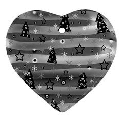 Gray Xmas magic Ornament (Heart)