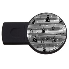 Gray Xmas magic USB Flash Drive Round (1 GB)