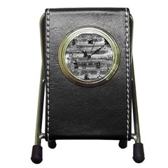 Gray Xmas magic Pen Holder Desk Clocks