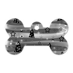 Gray Xmas magic Dog Tag Bone (Two Sides)