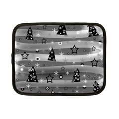 Gray Xmas magic Netbook Case (Small)