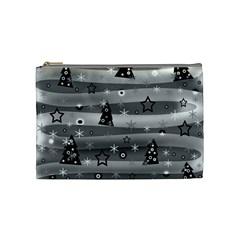 Gray Xmas magic Cosmetic Bag (Medium)
